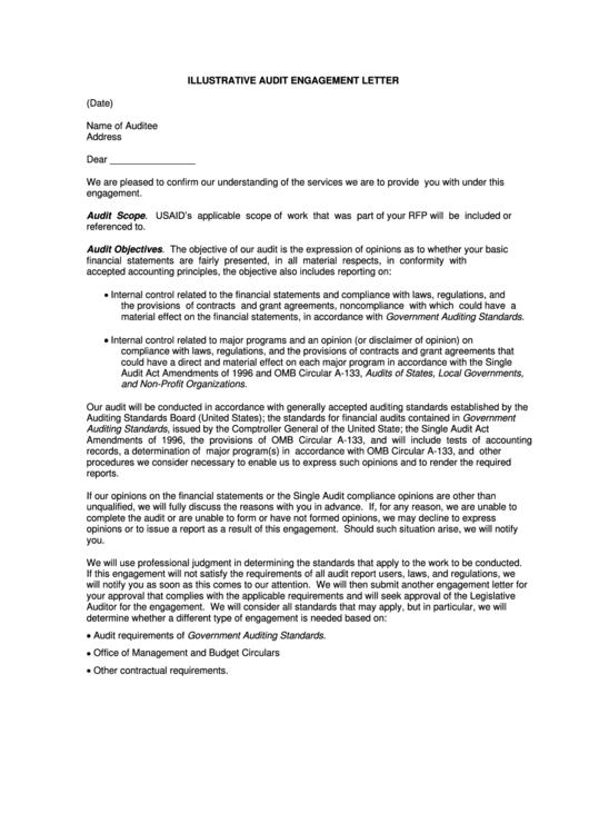 Top audit engagement letter templates free to download in pdf format illustrative audit engagement letter template spiritdancerdesigns Images