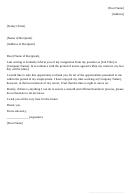 Resignation Letter 2