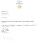 House Of Representatives Resignation Letter
