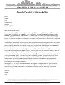 Sample Panelist Invitation Letter