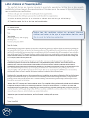 Letter Of Interest Or Prospecting Letter Template