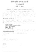 Letter Of Interest Number