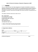 Letter Of Interest To Develop A Proposal In Response To Rfp - New York State Department Of Health