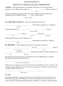 South Dakota Month To Month Lease Agreement Template