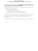 Letter Of Authorization Special Event Application Form