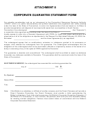 Corporate Guarantee Statement Form