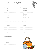 Trunk Or Treat Sign Up Sheet