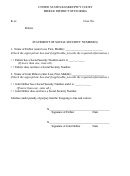 Statement Of Social Security Number Form