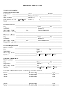 Resident Application Template