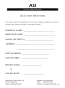 401(k) New Hire Form