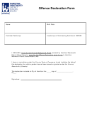 Offence Declaration Form