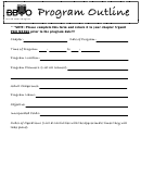 Bbyo Program Outline
