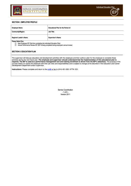 lifelong learning plan form pdf