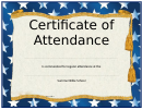Summer Bible School Certificate Of Attendance Template