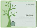 School Certificate Of Attendance Template