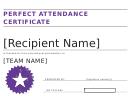 Perfect Attendance Certificate 2