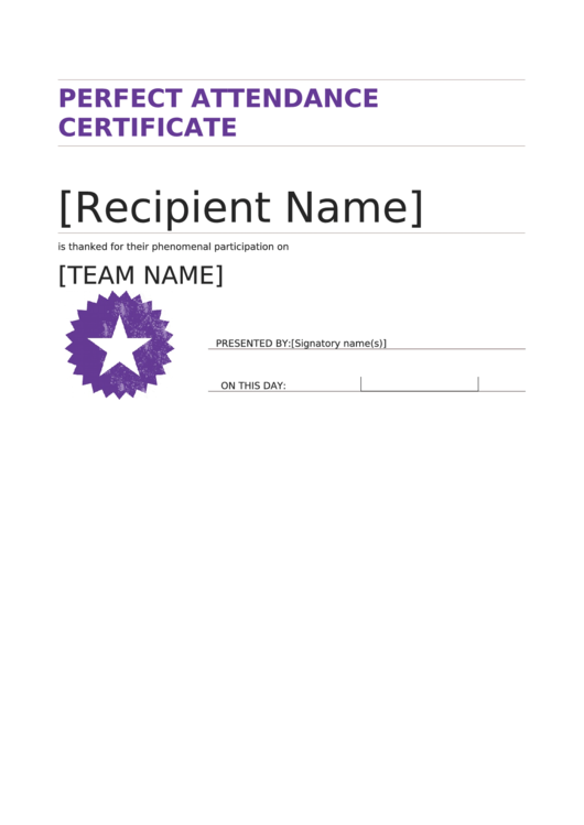 perfect attendance certificate pdf printable perfect attendance