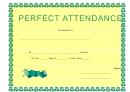 Perfect Attendance Certificate 4