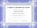Certificate Of Attendance For Guests