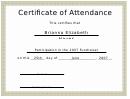 Fundraiser Attendance Certificate