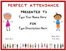 Pre School Certificate Of Attendance Template