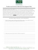 Postdoctoral Scholar Individual Development Plan