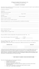Philippine Prudential Life Insurance Co. - Personal Accident Insurance Claim Form
