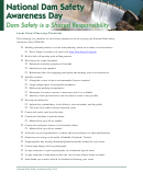 National Dam Safety Awareness Day Planning Checklist