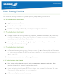 16 Weeks Event Planning Checklist