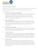 Aau Event Planning Checklist