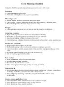 Event Planning Checklist 8