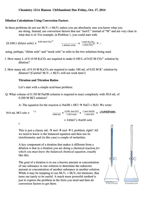 Top 10 Dilution Worksheet Templates Free To Download In Pdf Format