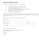 Montello Choir Behavior Contract