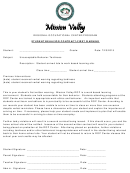 Student Behavior Contract First Warning Template