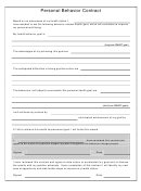 Personal Behavior Contract 5