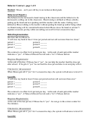 Behavior Contract 7