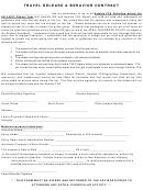 Travel Release Behavior Contract