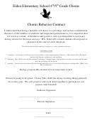 Chorus Behavior Contract