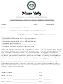 Student Behavior Contract Second Warning Probation Template