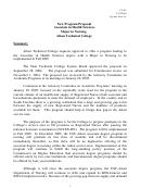 New Program Proposal Major In Nursing