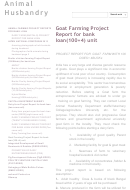 Goat Farming Project Report For Bank Loan