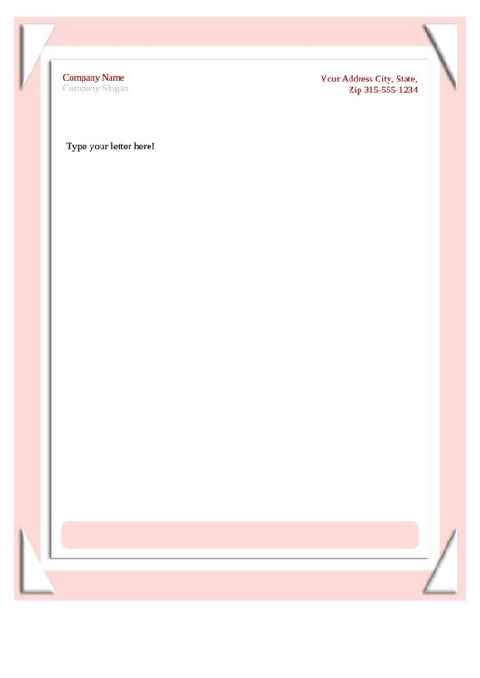 Business Letterhead Template - Pink