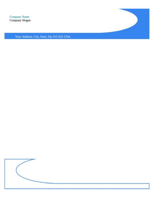 Business Letterhead Template - Blue
