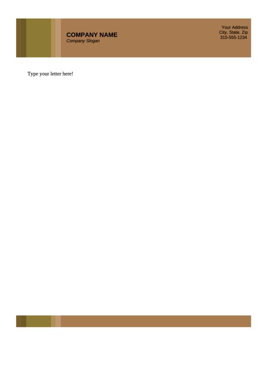 Business Letterhead Template - Brown
