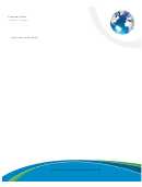 Business Letterhead Template - Earth