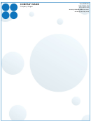 Business Letterhead Template - Blue Circles