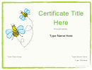 Certificate Templates For Kids 2