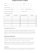 Equipment Rental Template