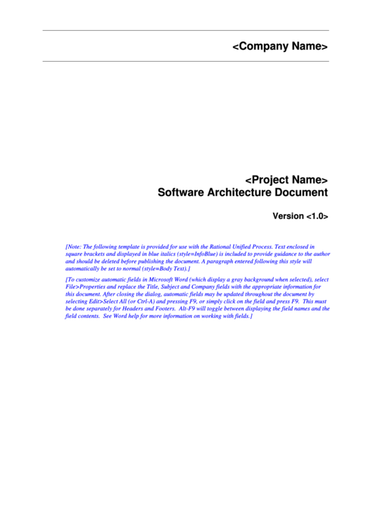 software architecture document 3 printable pdf download. Black Bedroom Furniture Sets. Home Design Ideas