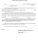 Maine 7 Day Notice To Vacate